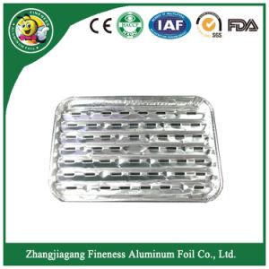 Placa do recipiente de alumínio e bandeja para churrasqueira e assar