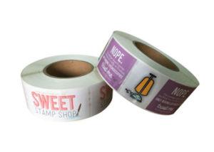 Diseño personalizado imprimir las etiquetas de papel adhesivo de cobre