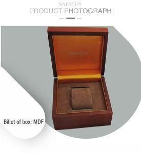 Retro Unisex reloj de madera con laca mate Don recogiendo Boxwatch Box