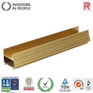 China el aluminio/aluminio perfil de color dorado para el bastidor