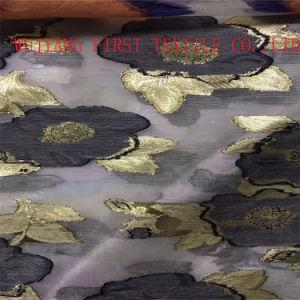 Rayonne en nylon Burn out velours Tissu d'impression