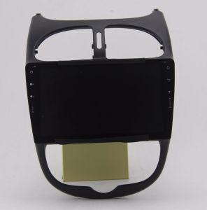 Zestech 9  인치 Peugeot 206에서 가득 차있는 접촉 스크린 인조 인간 7.1 차 DVD 라디오 오디오 GPS 선수