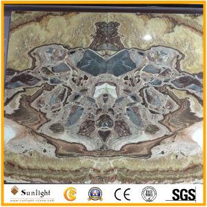 Hellgrüner Luxuxonyx für Innendekoration, Hintergrund-Wand