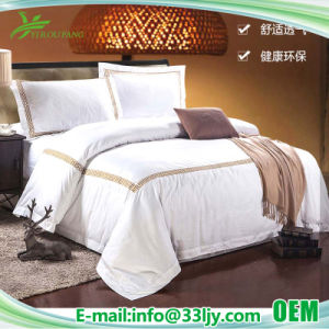Hotel-Zubehör-preiswerte Baumwollbettwäsche eingestellt für Hotel-Wohnung