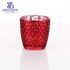Portavelas de vidrio de color rojo (GB2261ZD-QPR)