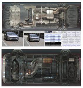 В машине проверка безопасности в автомобиле сканер под автомобилем инспекционной системы с высокой производительностью камеры