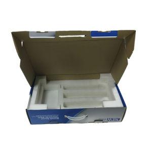 Caixa de Papelão Ondulado impresso personalizado com pega de plástico