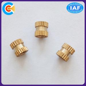 Insérer l'écrou/l'écrou en acier inoxydable/laiton rond moleté Embedded insère l'écrou de cuivre