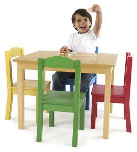 Los niños juegos de mesa y sillas muebles Kid con varios colores