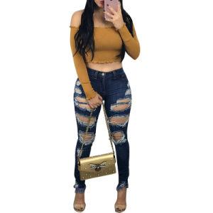 La mode off enveloppée de l'épaule Bodycon Shirt Tops