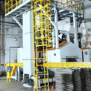 Mayflay 강철 플레이트 표면 자동적인 전처리 선 탄 폭파 기계