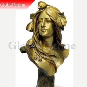 Tête buste en bronze à l'intérieur statue (GSBR-121)