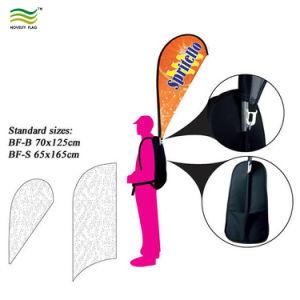 装飾の人間の歩くバックパックの旗の広告