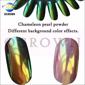 微光の塵のカメレオンミラーの紫外線ゲルのポーランド人のマニキュアのきらめきの顔料