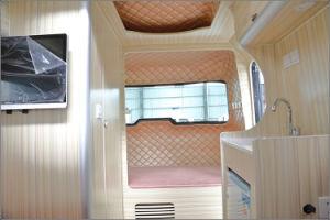 Het vouwen van de Aanhangwagen van de Kampeerauto met de Tent van het Dak en het Binnenland van de Luxe voor Verkoop