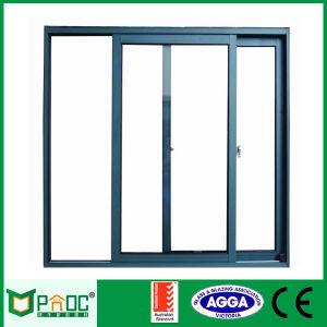 Alluminio che impila i portelli di vetro di scivolamento con lo standard australiano