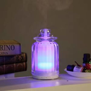 LEDは香りの拡散器のNebulizingの軽いガラス超音波拡散器を着色する