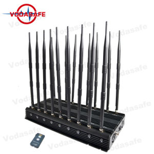 Nieuwste High Power 18 GPS VHF UHF 3G Mobile Phone Jammer, Powerful 3G Afstandsbediening Mobile Phone Jammer van Antenna Powerful WiFi voor Military