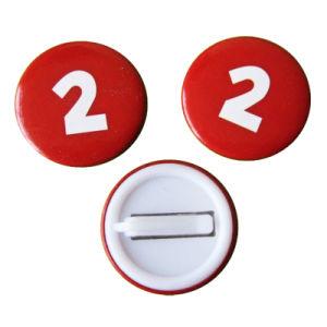 方法カスタム金属の昇進のギフト(016)として赤い女の子ボタンの錫のバッジ