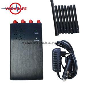 Antena 8 la última señal de celular Jammer; dispositivo GSM/3G/GPS/WiFi/Lojack aislante de la señal de teléfono móvil; 4W 8 Bandas Jammer señal hasta 20 metros