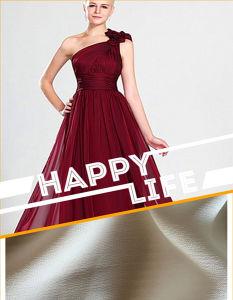 Bande de tissu crêpe de soie pour Lady's robes de soirée
