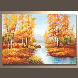 Handmade moderno Fall Painting su Canvas