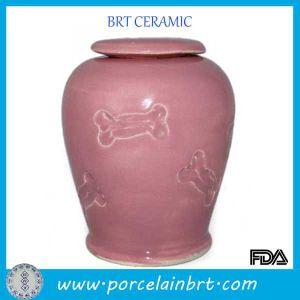 Розовый с остеклением керамические кости Urns пэт