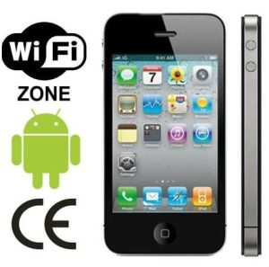 OS van het Scherm van 3.5 Duim Capacitieve Androïde 2.3 4GS Enige GPS WiFi van de Groef SIM Analoge TV BT 4s