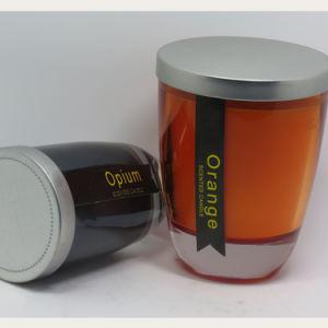 Großhandelsfarben-dekoratives duftendes Sojabohnenöl-Wachs-Glasglas-Kerze