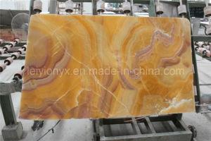 Pietra gialla trasparente del Onyx del drago della lastra rossa naturale del Onyx
