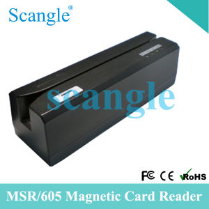 El MSR605 3 Pistas Msr/USB Lector de tarjetas magnéticas Swipe