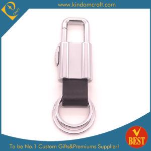 preço de fábrica personalizada de alta qualidade pessoal gratuito Luxury Design logótipo em relevo em pele genuína de metal chave do carro a corrente da China