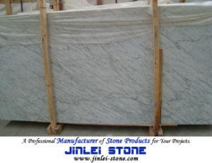 De Italiaanse Plakken van de Steen van Bianco Carrara Witte Marmeren voor Muur/Bevloering