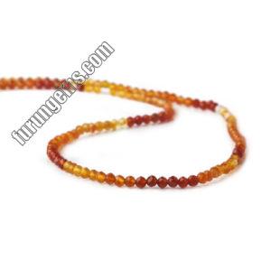 L'ombre naturelles Cornaline Agate Microfaceted perles de pierres précieuses Perles ronde 4mm de 6mm 8mm 10mm 12mm