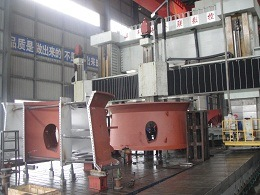 Mecanizado acabado de la carcasa de escape de turbina de gas