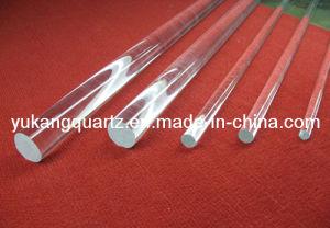 Tige de verre de quartz fondu claire et transparente la tige de quartz