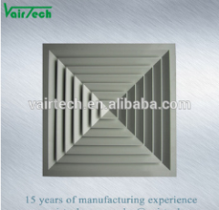 Aluminium van uitstekende kwaliteit 4 van de Airconditioning Verspreider van de Lucht van het Plafond van de Levering van de Manier de Vierkante