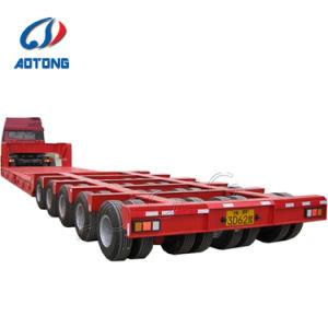 La línea 2 de 3 ejes 3 líneas de 6 ejes de la Línea 4 del eje 8 100-150 toneladas bajo la cama Lowbed Modular camión remolque semi