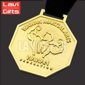 Custom medalla de oro para el levantamiento de pesas juego