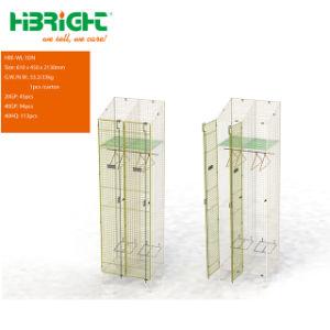 2 Kast van het Netwerk van het Metaal van de Draad van de Opslag van de Schoenen van deuren de Zink Geplateerde