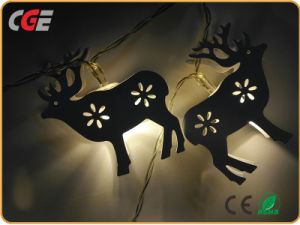 Illuminazione di vendita calda animale di festa LED dell'indicatore luminoso di natale del LED 3D di motivo esterno impermeabile dei cervi