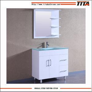 Preiswerte ökonomische MDF-einzelne Badezimmer-Eitelkeits-Geräten-Schränke