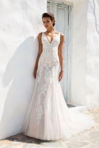 Amelie Rocky 2018 Sirena de encaje sexy vestido de novia