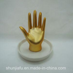 Supporto antico del braccialetto dell'orecchino della collana della visualizzazione dei monili del basamento della mano