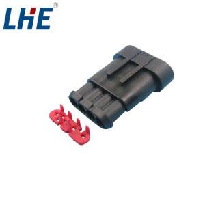 Te 282106-1の女性の電子工学12Vはコネクター4 Pinを防水する