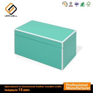 Green Rectangle Wooden Jewelry Vacant poison box