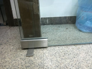 Mola de piso confinado a porta de vidro Hidráulica Kit reforçada de patches