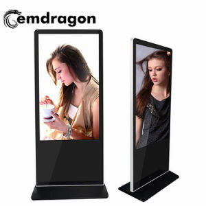 Self Service Ad Player Stand de plancher de 42 pouces LCD Affichage Digital Signage Digital Signage Player Chariot Mobile Advertising affichage LED