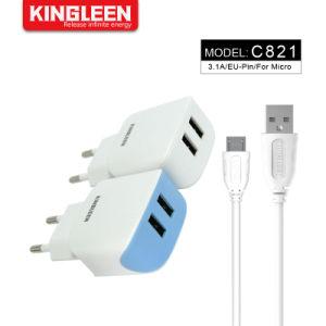 Тип USB-кабель C 3фт Dual USB домашний стены ЕС вилка-адаптер зарядного устройства совместимы Samsung Huawei Xiaomi LG