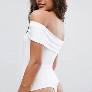 어깨 Bodysuit 떨어져 포장 정면
